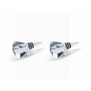 Zodax Diamond Crystal Bottle Stoppers, Set of 2