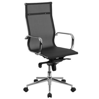 Black Mesh High-back Ventilated Swivel Executive Office Chair