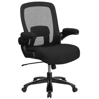 Executive Black Ventilated Mesh Back Swivel Adjustable Office Chair