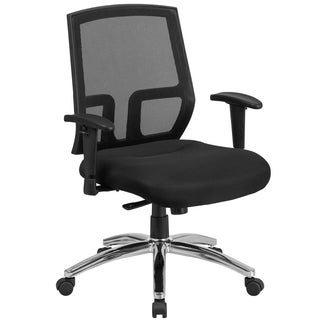 Executive Ventilated Mesh Back Swivel Office Chair With Mesh Upholstered Thick Foam Padded Seat