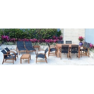 Amazonia Cosmopolitan 16 Piece Eucalyptus Patio Collection Set