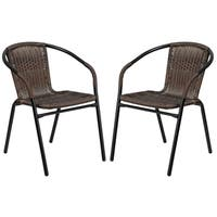 Milano Series Rattan Restaurant Patio Chair With Bamboo