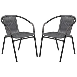 Zata Grey Rattan Indoor and Outdoor Stack Chairs