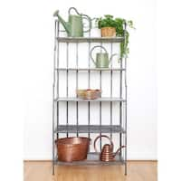Old Dutch Montclair Antique Pewter Finish Iron Baker's Rack