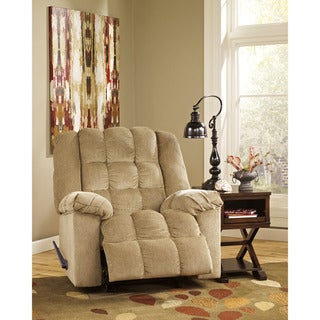 Offex Signature Design by Ashley Ludden Sand Twill Rocker Recliner