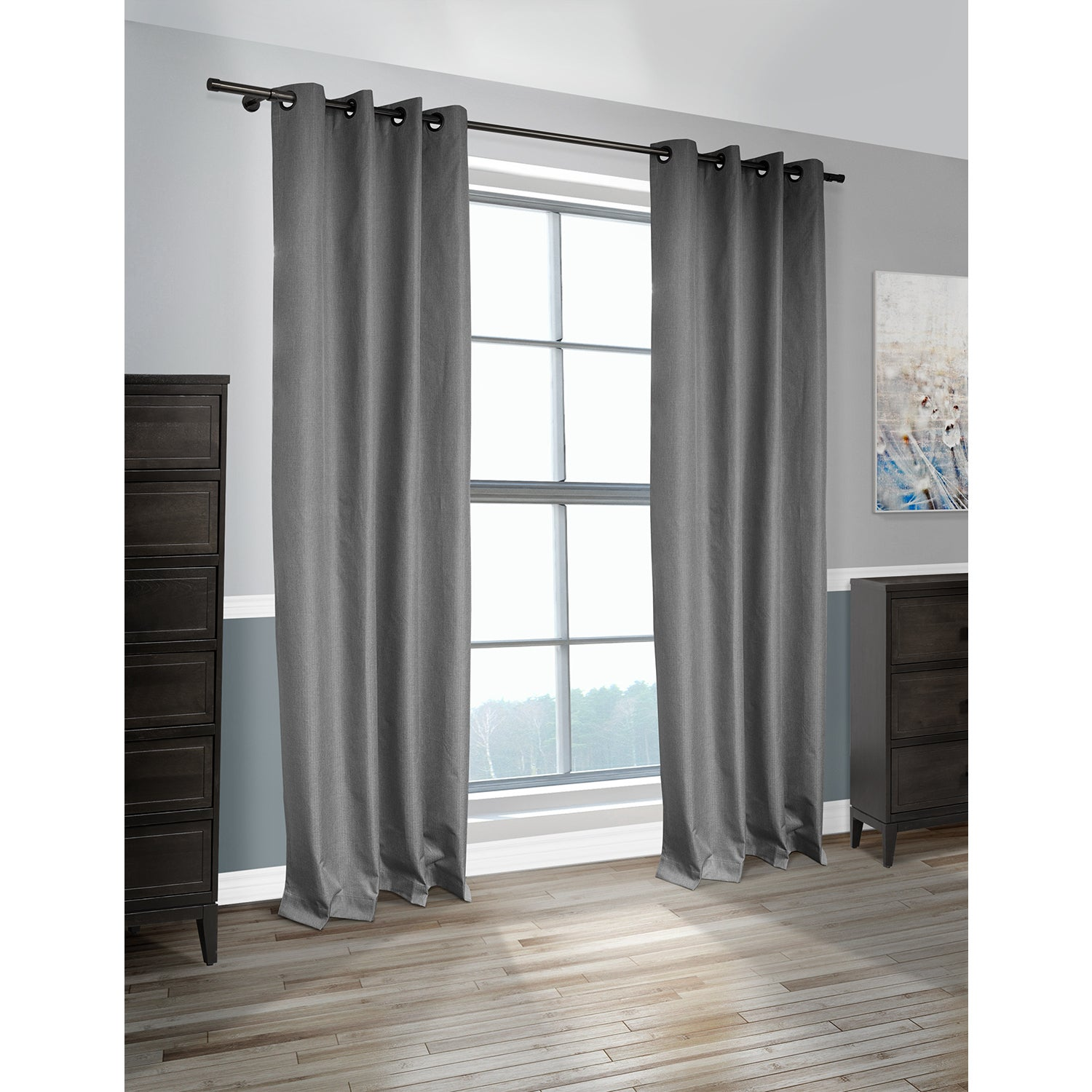 Lite Out Cabo Linen Look Blackout Curtain Panel