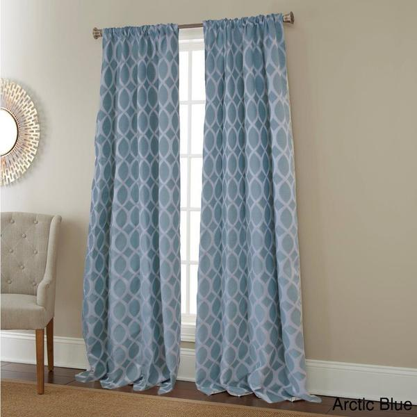Sherry Kline Infinity Jacquard 96 Inch Curtain Panel Pair Free Shipping Today 16648951