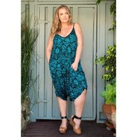 Sealed with a Kiss Women's Plus Size Jenny Harem Romper