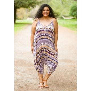 Sealed with a Kiss Women's Plus Size Jenny Harem Romper (More options available)