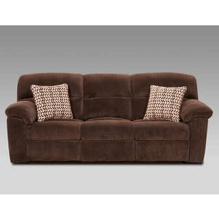 Brown Fabric Reclining Sofa