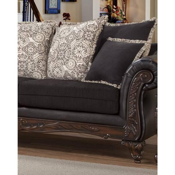Astonishing Shop San Marino Ebony Black Solid Wood Frame Sofa And Machost Co Dining Chair Design Ideas Machostcouk