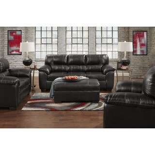Sofa Trendz Cole Black Faux Leather Sofa And Loveseat Set