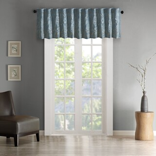 Madison Park Eliza Faux Silk Embroidered Window Valance (5 options available)