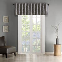 Madison Park Eliza Faux Silk Embroidered Window Valance