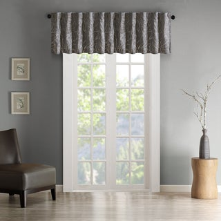 Madison Park Eliza Faux Silk Embroidered Window Valance (More options available)
