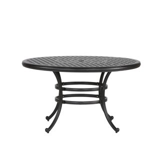 Yorkshire Black Aluminum 52-inch Round Dining Table