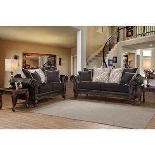 San Marino Ebony Black Solid Wood Frame Sofa