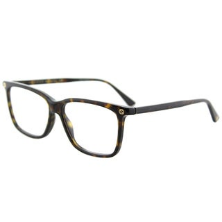 Gucci GG Havana Plastic Rectangle 54 mm Eyeglasses
