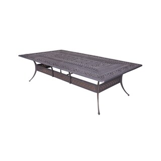 "Gracewood Hollow Budi Grey Aluminum Outdoor Table (60"" x 108"")"