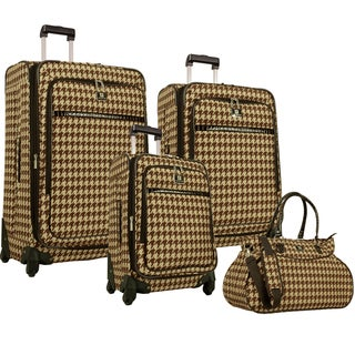 Anne Klein Boston 4-piece Expandable Spinner Luggage Set