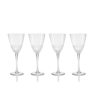 """Vitorrio"" Wine Glass, Frosted Design (Set of 4)"