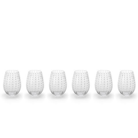 """Fintan"" 5"" Tall Stemless Wine Glass (Set of 6)"