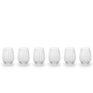 """Fintan"" 5"" Tall Stemless Wine Glass (Set of 6)"