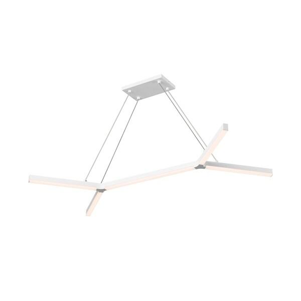 Sonneman Lighting Bi-Y LED Satin White Pendant, Frosted Shade