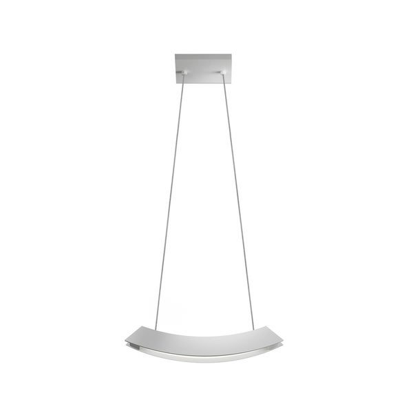 Sonneman Lighting Kabu Small LED Bright Satin Aluminum Pendant - Silver