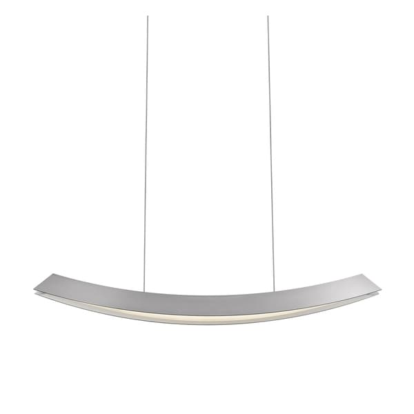 Sonneman Lighting Kabu Large LED Bright Satin Aluminum Pendant - Silver