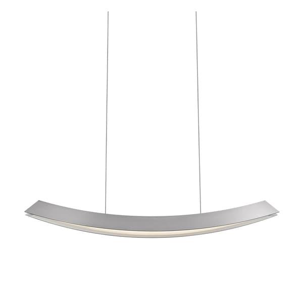 Sonneman Lighting Kabu Bright Satin Aluminum Large LED Pendant