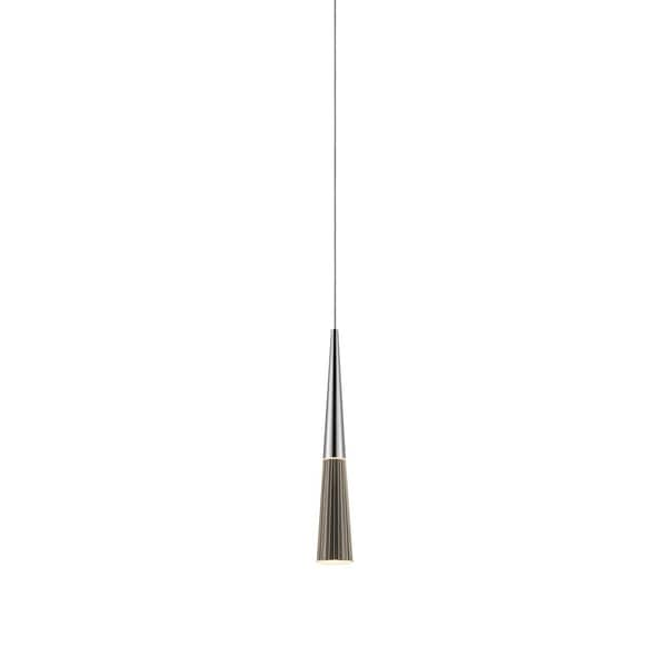 Sonneman Lighting Spire LED Polished Chrome Pendant Micro-Dome Canopy, Clear Shade