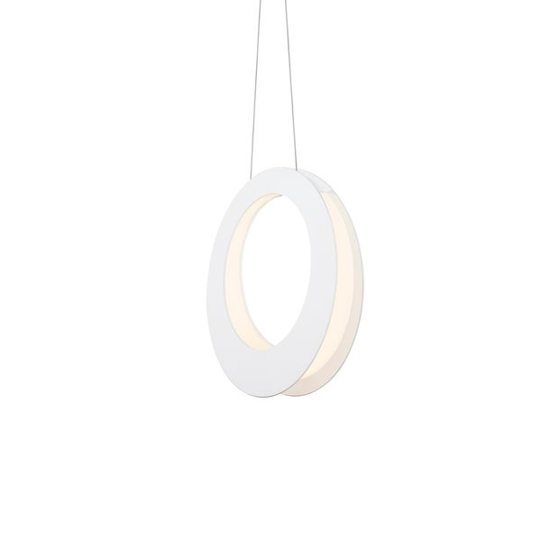 Sonneman Lighting Haro LED Textured White Pendant