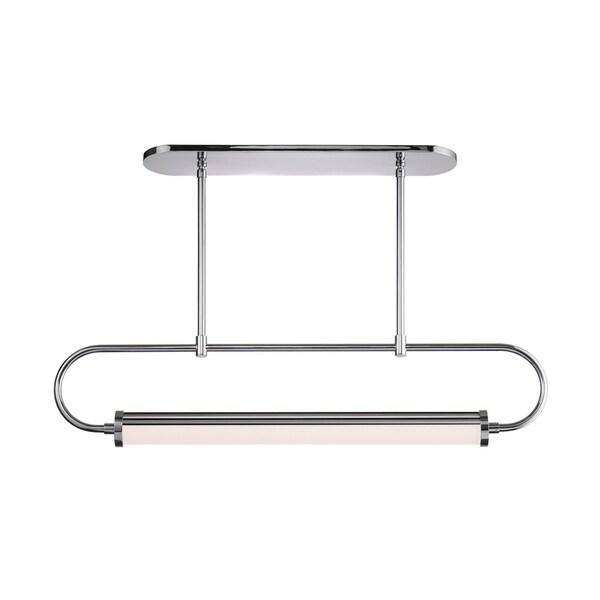 Sonneman Lighting Bauhaus Revisited Rohr LED Polished Chrome Pendant, White Shade