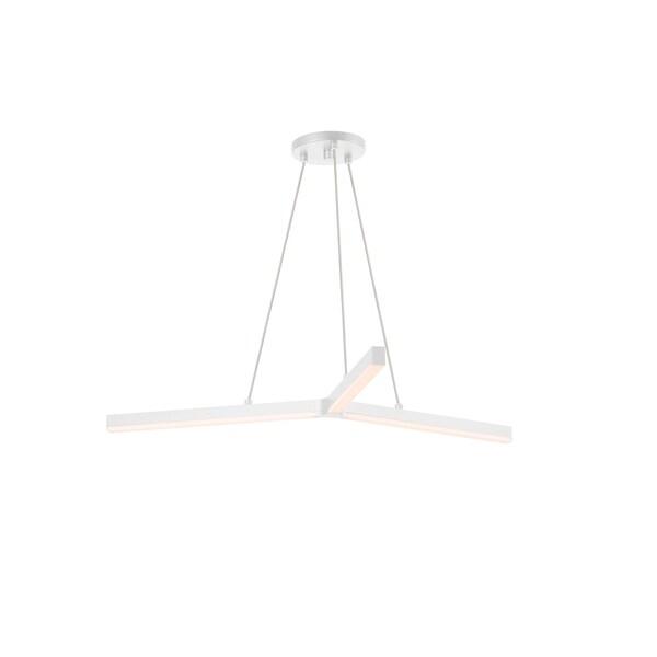 Sonneman Lighting Y LED Satin White Pendant, Frosted Shade