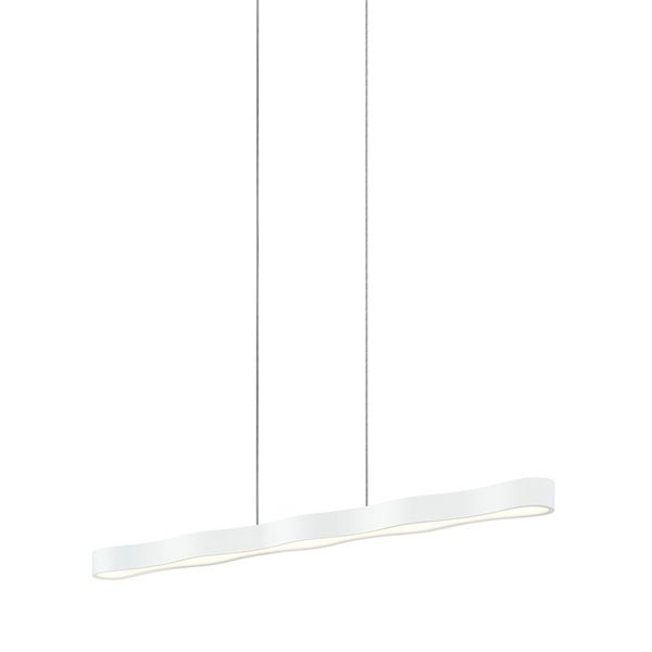 Sonneman Lighting Corso Linear 44-inch LED Textured White Pendant, Optical Acrylic Diffuser