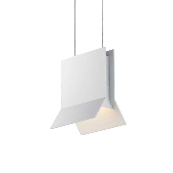Sonneman Lighting Lambda LED Textured White Pendant