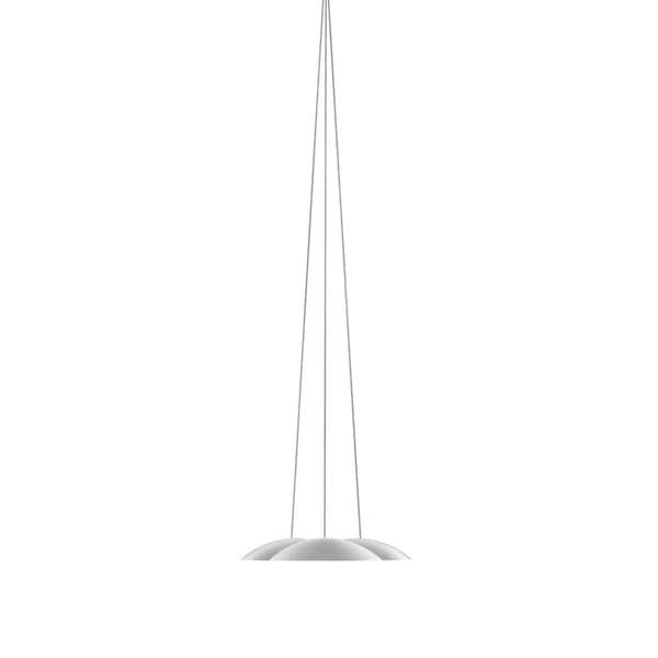 Sonneman Lighting Little Cloud DownLight LED Bright Satin Aluminum Pendant, Optical Acrylic Diffuser