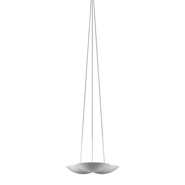 Sonneman Lighting Little Cloud UpLight LED Bright Satin Aluminum Pendant, Optical Acrylic Diffuser