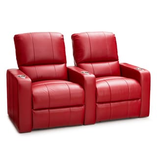 Seatcraft Millenia Red Leather Home Theater 2-seat Power Recliner  sc 1 st  Overstock.com : red leather recliner - islam-shia.org