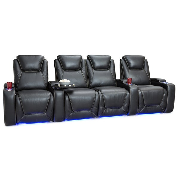 Shop Seatcraft Equinox Leather Home Theater Seating Power