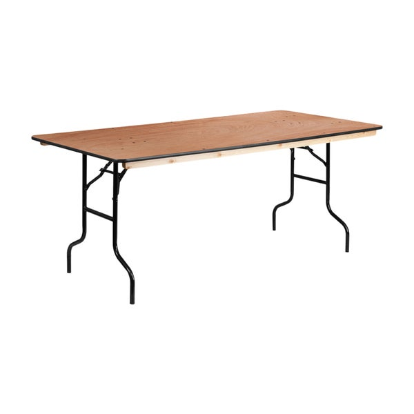 Shop Offex Rectangular Wood 36 Inch X 72 Inch Folding Banquet Table