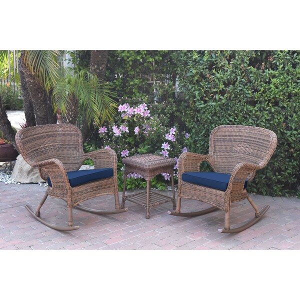Shop Jeco Windsor Honey Wicker Rocker Chair And End Table