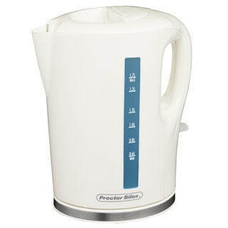 Proctor Silex White 1.7 Liter Cordless Electric Kettle
