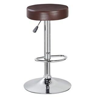 Backless Round Adjustable-height Barstool