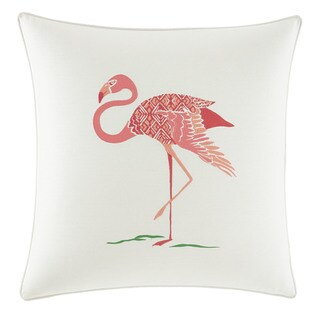 Nine Palms Flamingo Throw Pillow