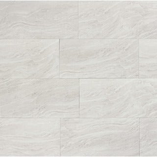 Yosemite Silver Porcelain Outdoor Wall Tile (Case of 9)
