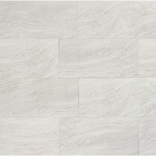 Yosemite Silver Porcelain 12-inch x 24-inch Tiles (Pack of 9)