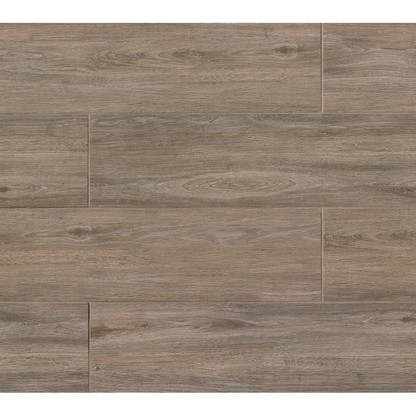 Titus Series Noce Brown Porcelain Tile Case Of 8 Free Shipping
