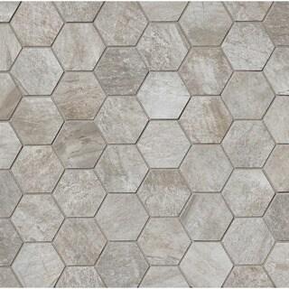 2X2 Hexagon Mosaic Silver (Case of 11)